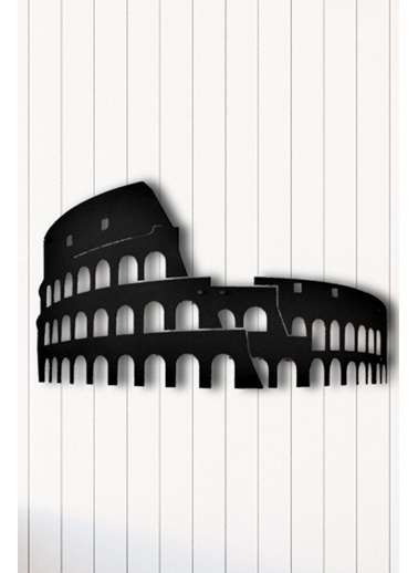 Angemiel Home Colosseum Metal Duvar Tablosu Siyah